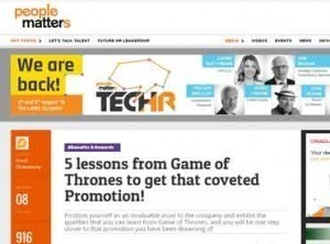 5 lessons from Game of Thrones to get that coveted Promotion!