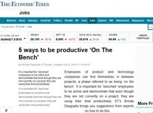 5 ways to be productive 'On The Bench'