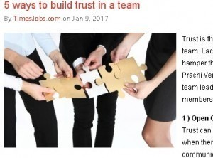 5 ways to build trust in a team