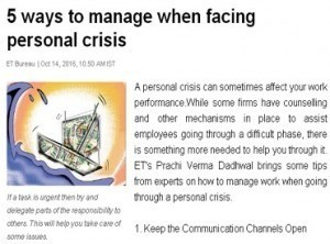 5 ways to manage when facing personal crisis