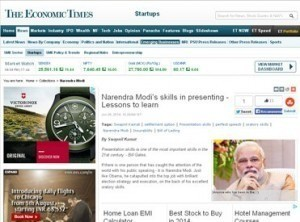 Narendra Modi's skills in presenting - Lessons to learn