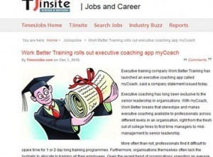 Work Better Training rolls out executive coaching app myCoach app