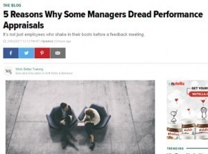 5 reasons why some managers dread performance appraisals