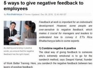 5 Ways to give negative feedback to employees