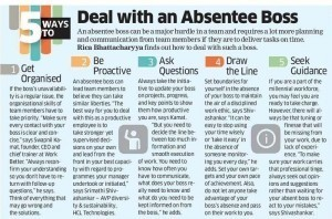 Deal with an Absentee Boss