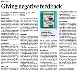 Giving Negative Feedback
