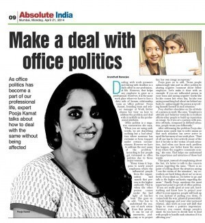 Make a deal with office politics