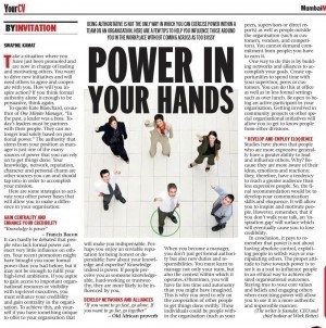 Power in your hands