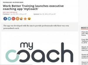 Work Better Training launches executive coaching app 'myCoach'