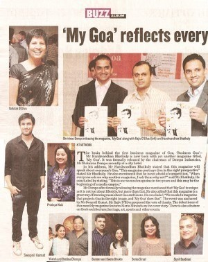 My goa reflects every