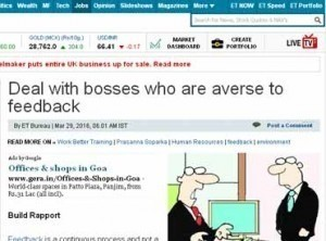 Deal with bosses who are averse to feedback