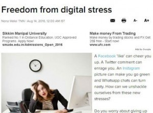 Freedom from digital stress