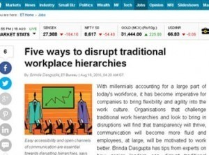 Five ways to disrupt traditional workplace hierarchies