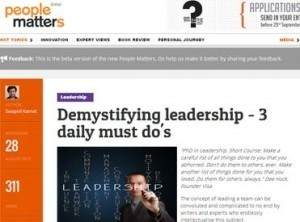 Demystifying leadership  daily must do