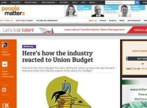 How the industry reacted to Union Budget