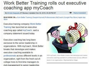 Work Better Training rolls out executive coaching app myCoach