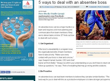5 ways to deal with an absentee boss
