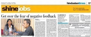 Get over the fear of negative feedback
