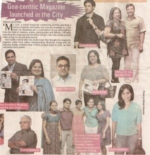 Goa centric magazine launched in the city