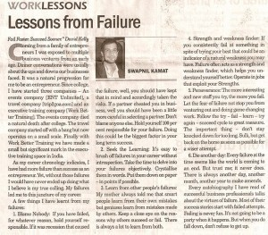 Work Better Lessons Lessons From Failure