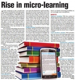 Rise in Micro learning