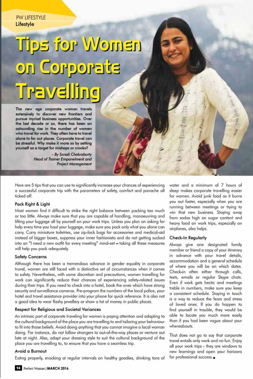 Tips for women on Corporate Travelling
