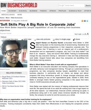 Soft skills play a big role in corporate jobs